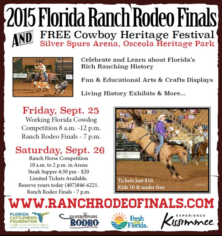 2015 Ranch Rodeo Ad Florida Ranch Rodeo Finals