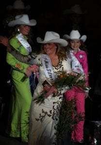 Walking the stage after being crowned Miss Silver Spurs