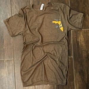 Unisex Brown/Grey T-Shirt